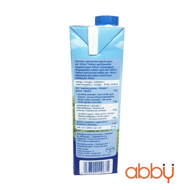 Sữa tươi nguyên kem 3,5% Oldenburger 1L
