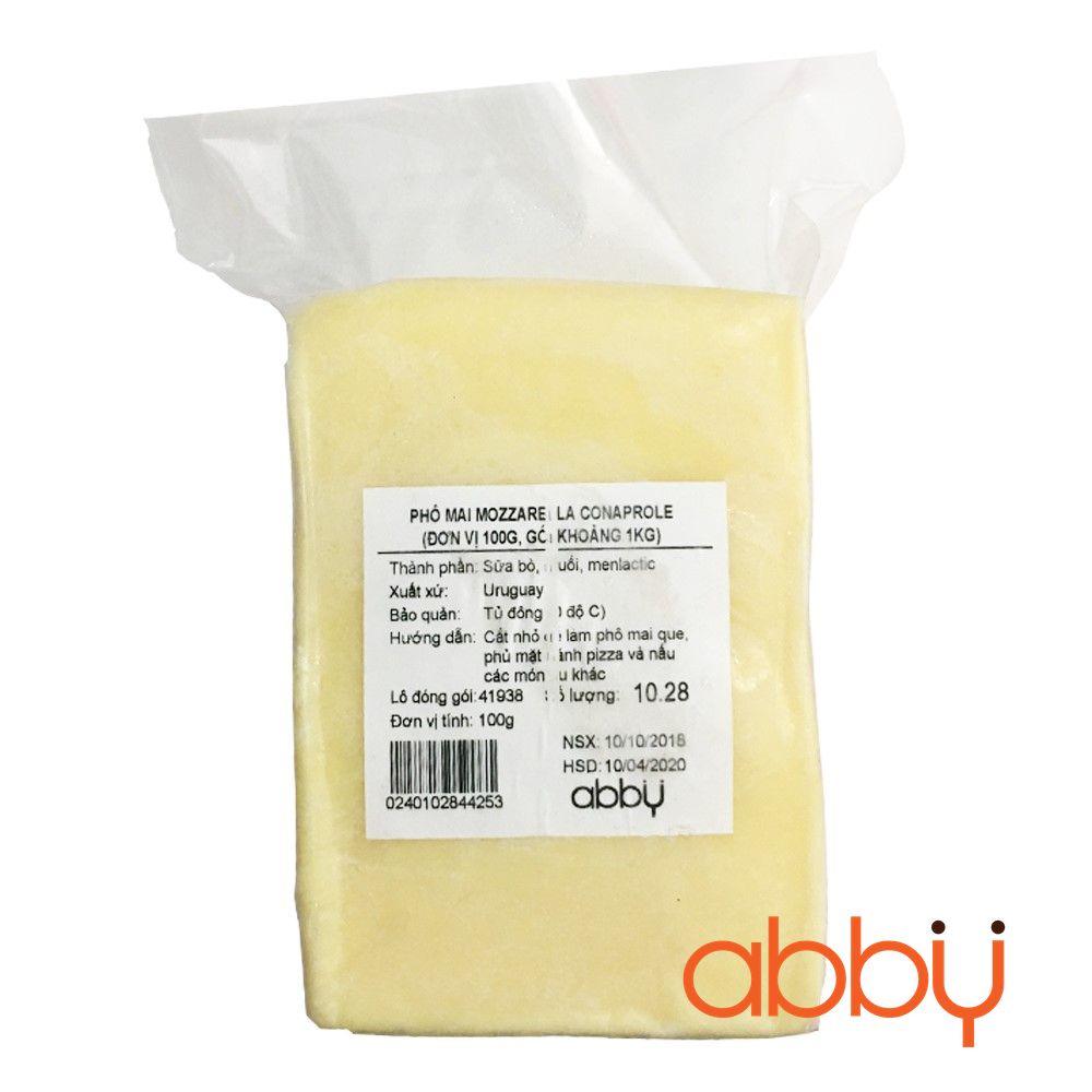 Phô mai mozzarella Conaprole (đơn vị 100g, gói khoảng 1kg)