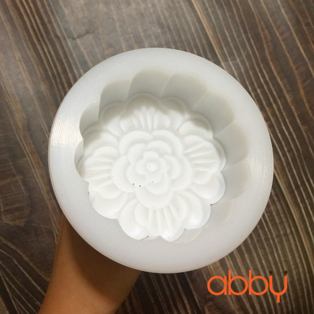 Khuôn Trung Thu nhựa đúc Teflon 150g - 180g hoa mẫu đơn