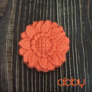 Khuôn Trung Thu nhấn 3D mẫu hoa hướng dương