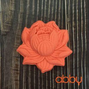 Khuôn Trung Thu nhấn 3D mẫu hoa sen