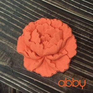 Khuôn Trung Thu nhấn 3D mẫu hoa mẫu đơn