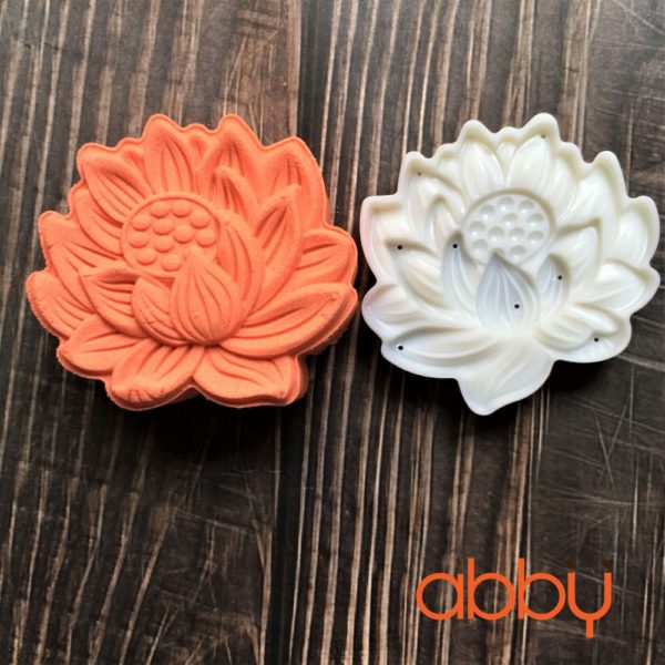 Khuôn Trung Thu lò xo 125g - 150g 1 mặt hoa sen 3D