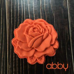 Khuôn Trung Thu lò xo 125g - 150g 1 mặt hoa hồng 3D