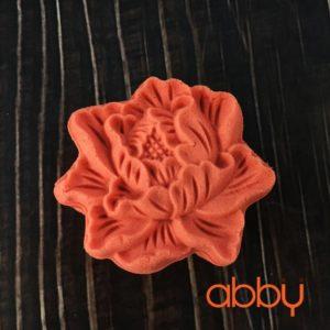 Khuôn Trung Thu lò xo 50g - 65g 1 mặt hoa mẫu đơn 3D