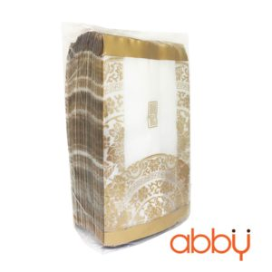 Túi đựng bánh trung thu 125-150g họa tiết nhũ vàng (100 túi)