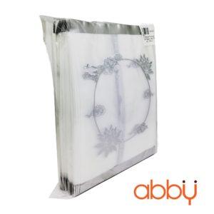Túi đựng bánh trung thu 125-150g sen mây nhũ bạc (100 túi)