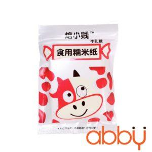 Giấy gạo gói kẹo túi bò sữa đỏ (500 tờ)