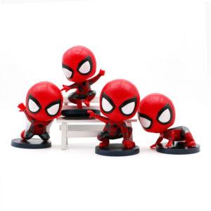 Bộ 4 tượng trang trí bánh Spiderman 9cm