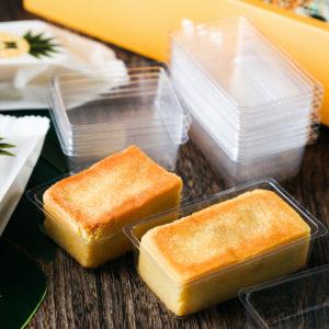 Khay nhựa trong suốt đựng bánh dứa 7.3x5x2cm (100 chiếc)