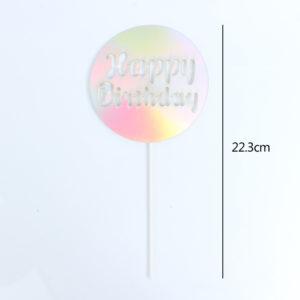Chữ Happy Birthday tròn bạc 22.3cm