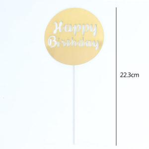 Chữ Happy Birthday tròn vàng 22.3cm