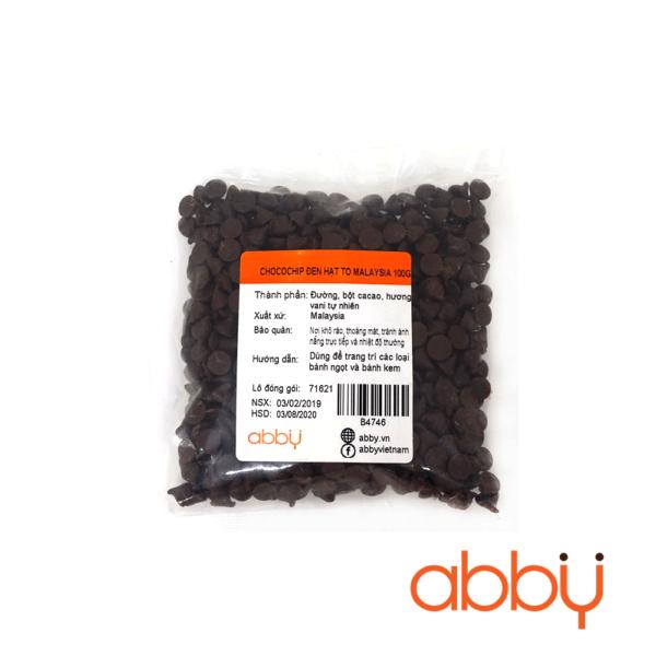Chocochip đen hạt to Malaysia 100g