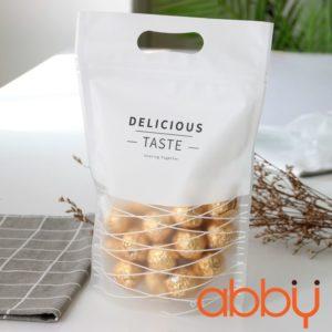 Túi zip in hình 23x15cm Delicious taste (5 chiếc)