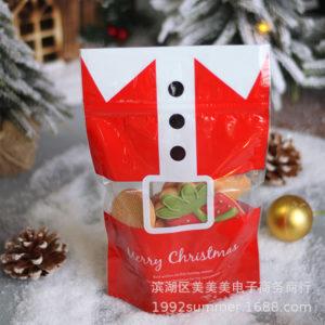 Túi zip in hình Merry Christmas 21x15cm (5 chiếc)