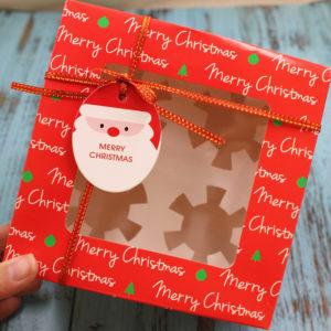 Hộp cupcake 4 ô Merry Christmas