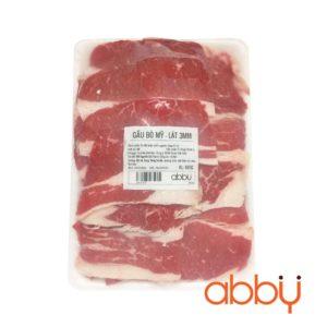 Gầu bò Mỹ lát 3mm túi 500g