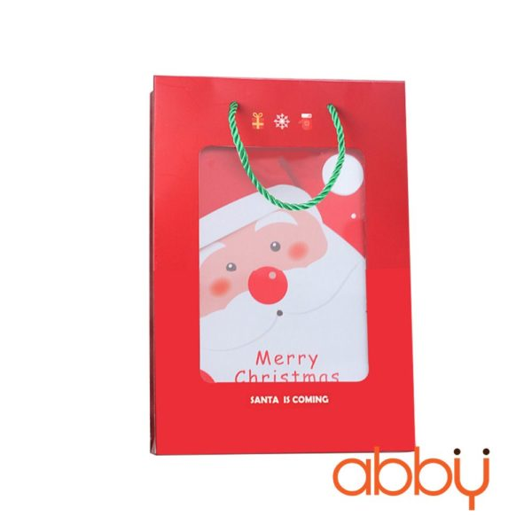 Bộ túi và hộp đựng chữ nhật Merry Christmas 23x16x5cm