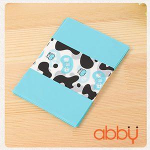 Giấy gói kẹo hình bò sữa xanh dương 13x9cm (48 - 50 tờ)