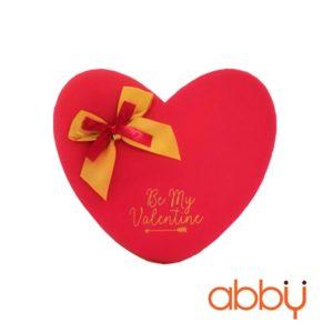 Hộp socola trái tim 14 viên Be my Valentine màu đỏ