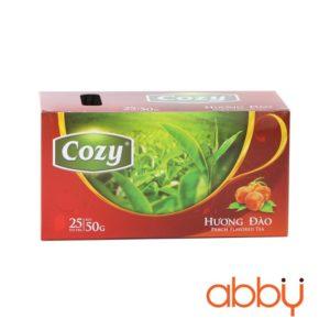 Trà đào túi lọc cozy 2g x 25 gói (1 hộp)