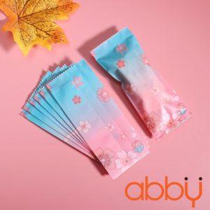 Túi đựng kẹo nougat hoa đào 9.5x4cm (50 chiếc)