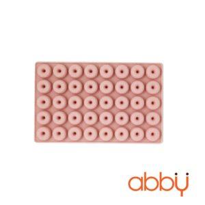 Khuôn kẹo chip chip silicon 40 viên hình bánh donut