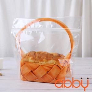 Túi zip đựng bánh mì 37x32x5cm hình giỏ quà (5 chiếc)