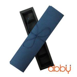 Hộp socola hình chữ nhật 6 viên màu xanh