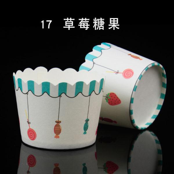 Cup giấy cứng 6x5cm mẫu kẹo ngọt (48 - 50 chiếc)