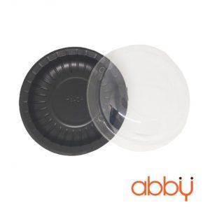 Hộp nhựa đế đen nắp tròn TA-04