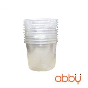 Cốc nhựa đáy bầu không nắp 360ml (10 chiếc)