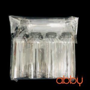 Chai nhựa PET tròn 330ml miệng lớn (5 chai)