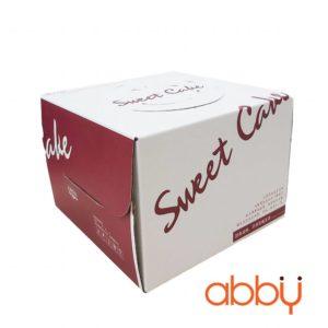 Hộp gato Sweet cake 25x25x15cm (kèm đế trắng)