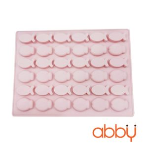Khuôn kẹo chip chip silicon 36 viên hình cá