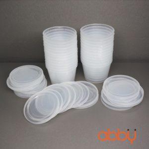 Hộp nhựa caramen tròn số 1 (10 chiếc)