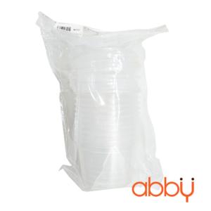 Hộp nhựa caramen tròn cao 3,5cm (10 chiếc)