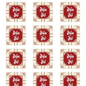 Tem nhân đậu đỏ hình vuông (15 tem)