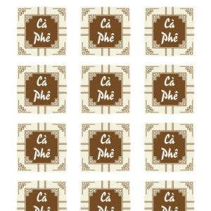 Tem nhân cà phê hình vuông (15 tem)