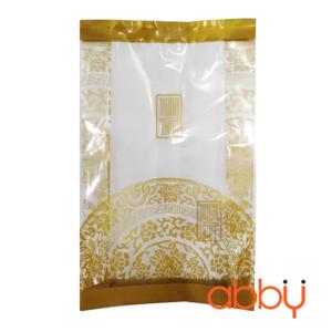 Túi đựng bánh trung thu 50-75g họa tiết nhũ vàng (10 túi)