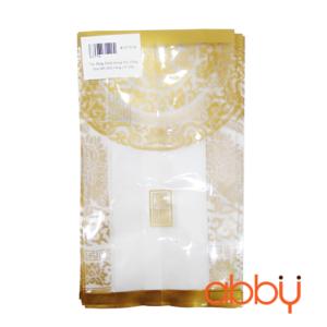 Túi đựng bánh trung thu 100g họa tiết nhũ vàng (10 túi)