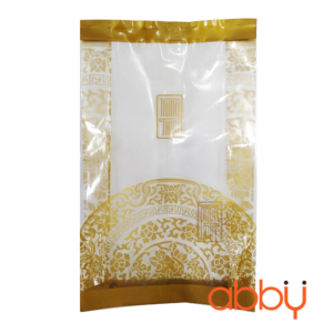 Túi đựng bánh trung thu 100g họa tiết nhũ vàng (100 túi)