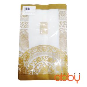 Túi đựng bánh trung thu 200-250g họa tiết nhũ vàng (10 túi)