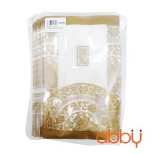 Túi đựng bánh trung thu 200-250g họa tiết nhũ vàng (100 túi)