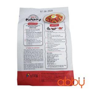 Bánh gạo Hàn Quốc dạng ống (kèm sốt) 350g