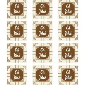 Tem nhân cà phê hình vuông (17 tem)