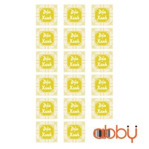Tem nhân đậu xanh hình vuông (17 tem)