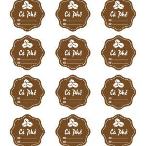 Tem nhân cà phê có NSX/HSD (17 tem)
