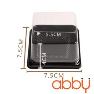 Hộp pet vuông đựng bánh Trung Thu XY65S (100 chiếc)