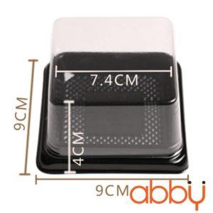 Hộp pet vuông đựng bánh Trung Thu XY80S (50 chiếc)